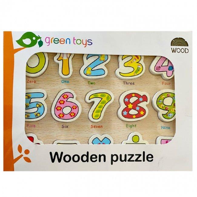 پازل چوبی جاگذاری اعداد انگلیسی کد 0201