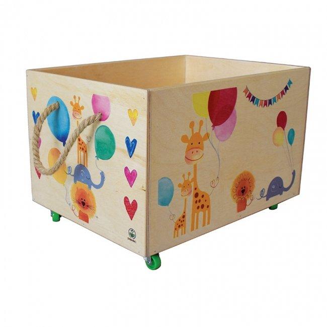 باکس چوبی اسباب بازی چرخدار پوپولوس کد 10815
