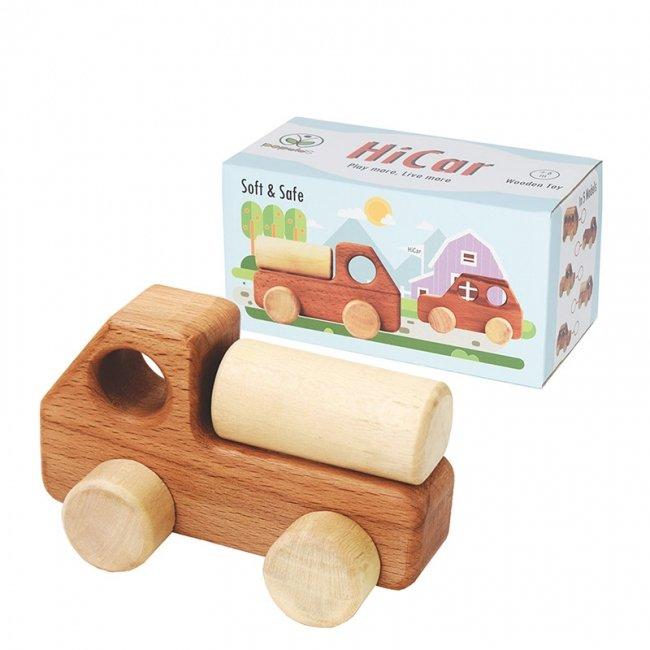 ماشین اسباب بازی چوبی پوپولوس مدل حمل سوخت هایکار hicar کد 10615