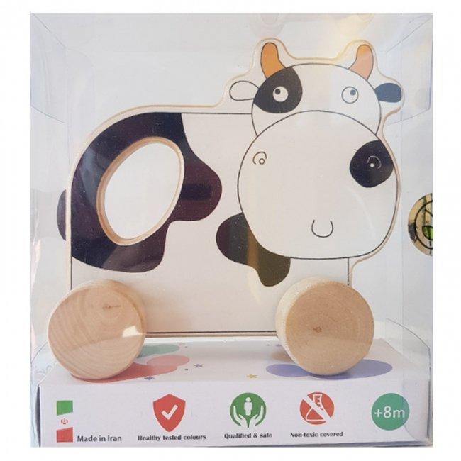 اسباب بازی چوبی گاو چرخدار پوپولوس انیموو Animove کد 10715