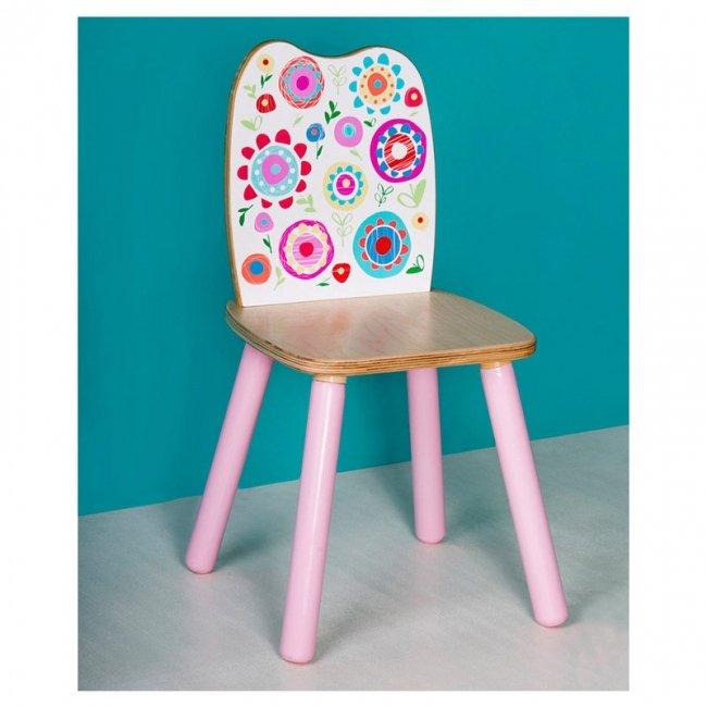 صندلی چوبی کودک پوپولوس طرح گل کد 10525