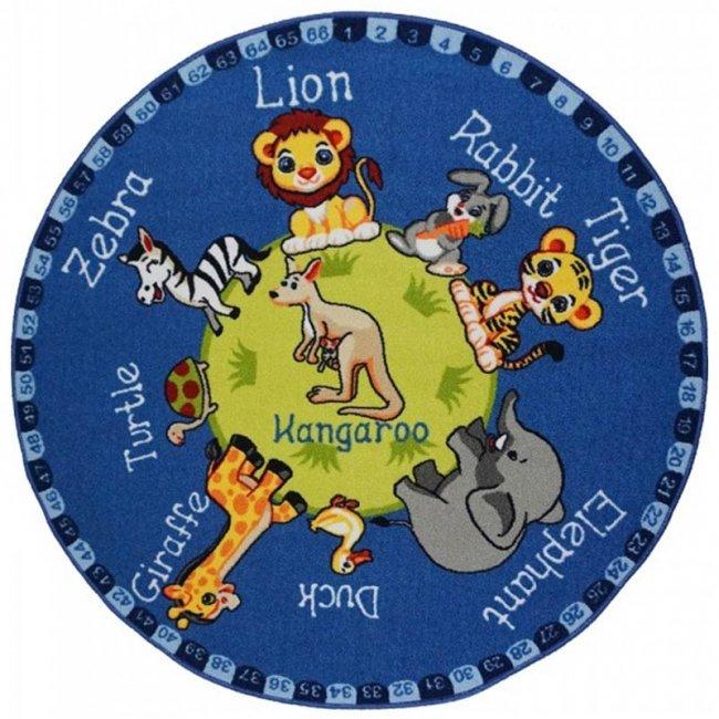 فرش اتاق کودک Confetti طرح سیاره حیوانات کد ATL177