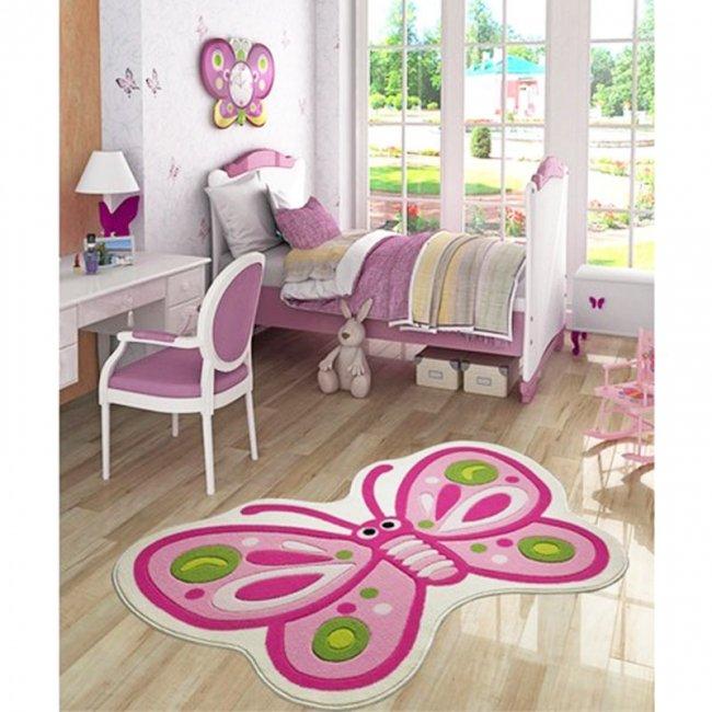 فرش اتاق کودک Confetti طرح پروانه زیبا کد SYC103