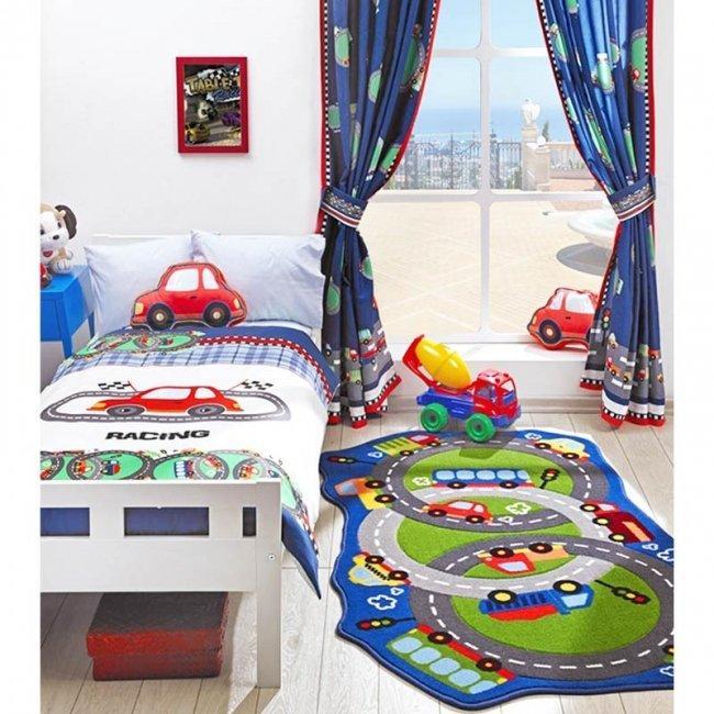 فرش ماشین بازی کودک Confetti طرح میدان ماشین بازی  کد CKC105
