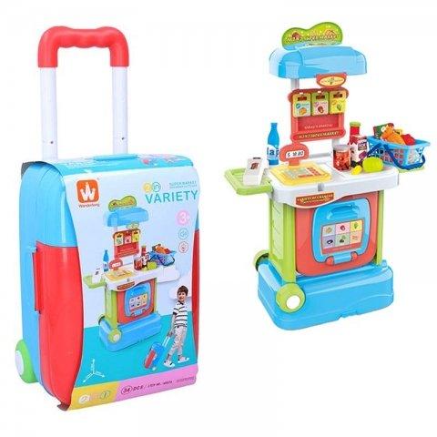 اسباب بازی سوپرمارکت چمدانی کد W807A