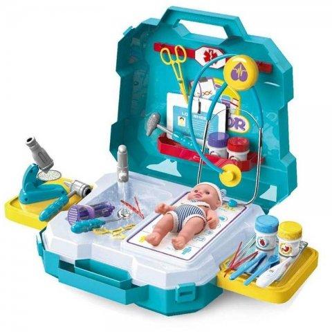 ست اسباب بازی وسایل پزشکی کیفی با عروسک کد 555040