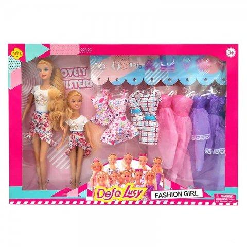 عروسک باربی دفا با لباس اضافه سفید کد 8447