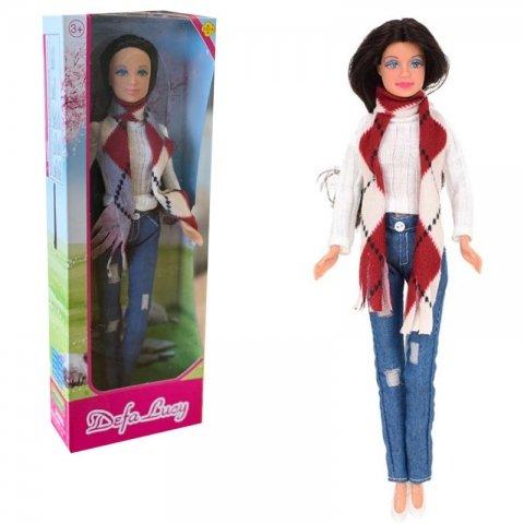 عروسک باربی دفا با لباس بافت سفید کد 8366