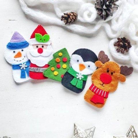 عروسک نمدی انگشتی کریسمس کد 3125