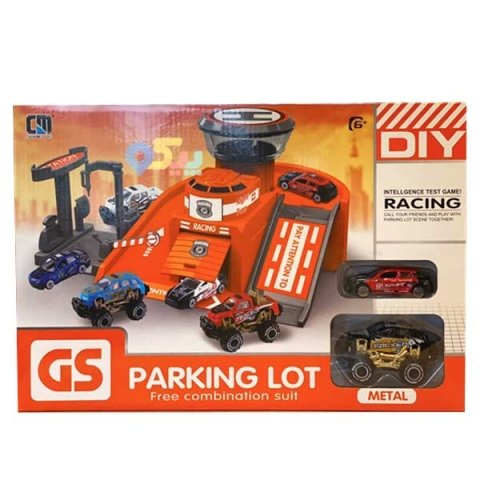 پارکینگ اسباب بازی مدل ریسینگ با ماشین مشکی کد 55952