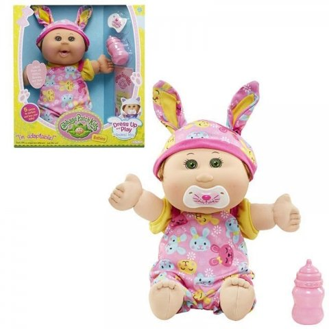 عروسک دخترانه طرح کلم پیچ با پیراهن صورتی 79847