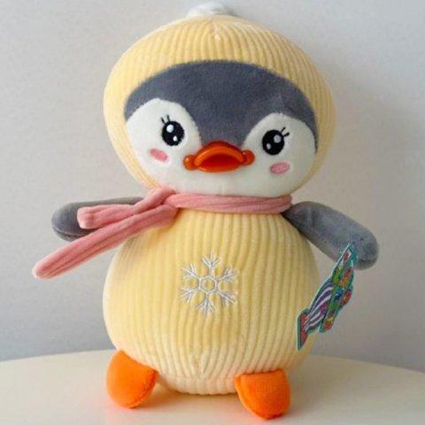 عروسک پارچه ای پنگوئن زرد کد mj219