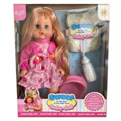 عروسک دخترانه جیشی لباس صورتی کد hx3598