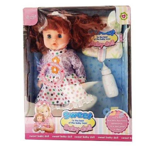 عروسک دخترانه جیشی با لباس بنفش کد hx3594