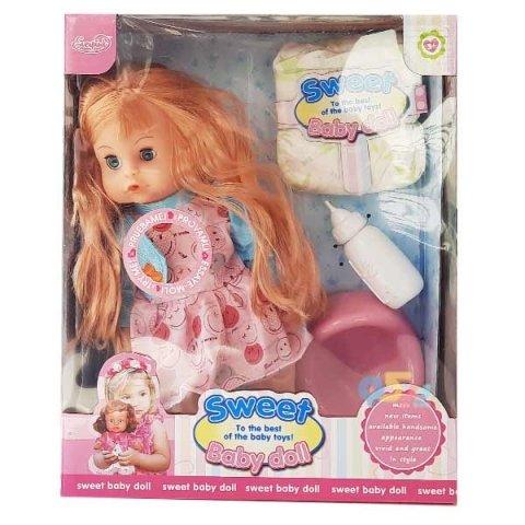 عروسک دخترانه جیشی لباس آبی کد hx3598