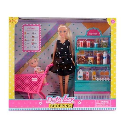 سوپرمارکت عروسک باربی دفا با لباس مشکی کد 8364