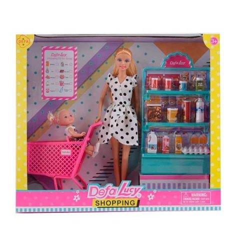 سوپرمارکت عروسک باربی دفا با لباس سفید کد 8364