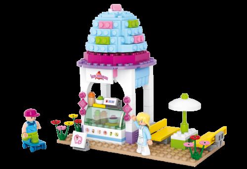 بلوک 205 تکه بستنی فروشی کد Sluban  M38-B0525