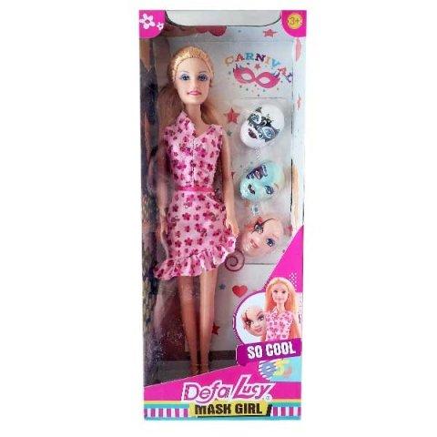 عروسک باربی دفا با لباس صورتی کد 8448