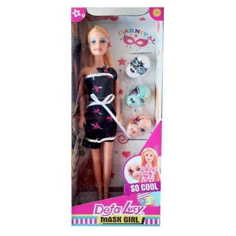 عروسک باربی دفا با لباس مشکی کد 8448