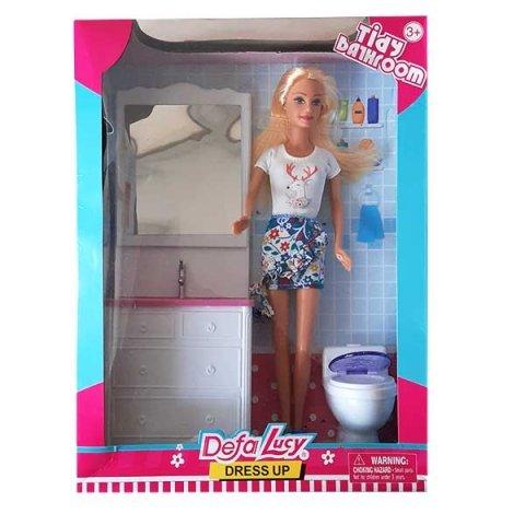 عروسک باربی دفا با لباس سفید کد 8449
