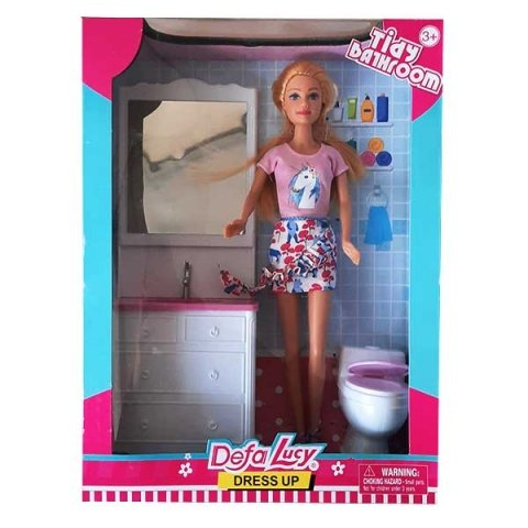 عروسک باربی دفا با لباس صورتی کد 8449