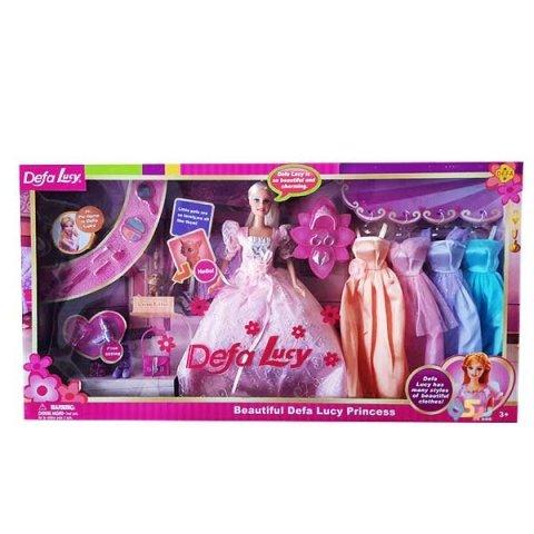 عروسک باربی با لباس اضافه مدل دفا صورتی کد 6073B