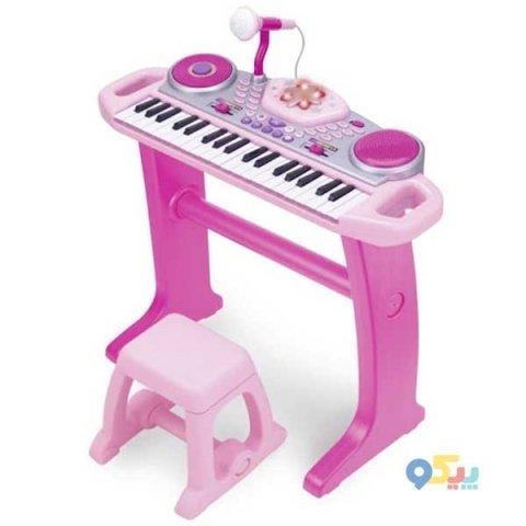 اسباب بازی پیانو کودک رنگ صورتی Winfun مدل 0020680