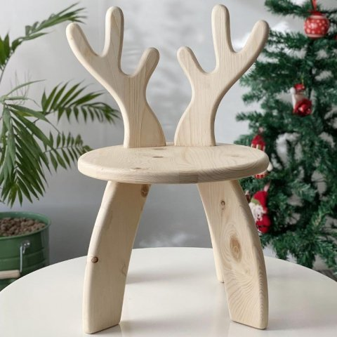 صندلی چوبی کودک طرح گوزن کد 5558