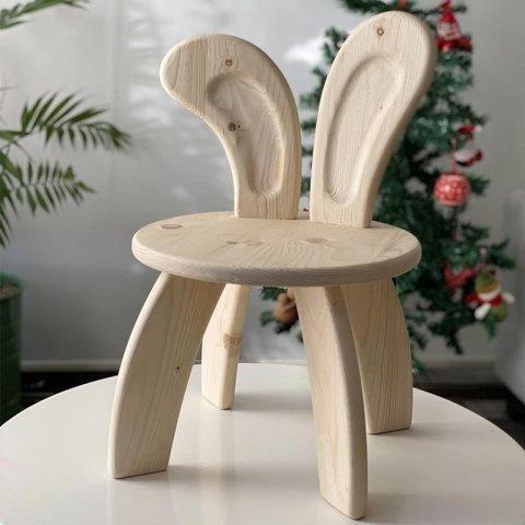 صندلی چوبی کودک طرح خرگوش کد 5558
