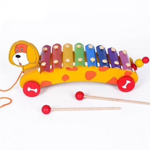 اسباب بازی بلز چوبی چرخدار طرح سگ کد 0125