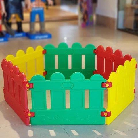 پارک حفاظ کودک استخر توپ نرده ای 6 ضلعی مدل 50336