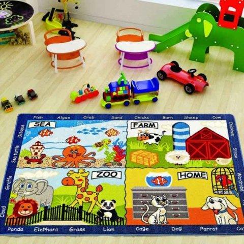 فرش اتاق کودک Confetti طرح آموزشی حیوانات کد 3730995