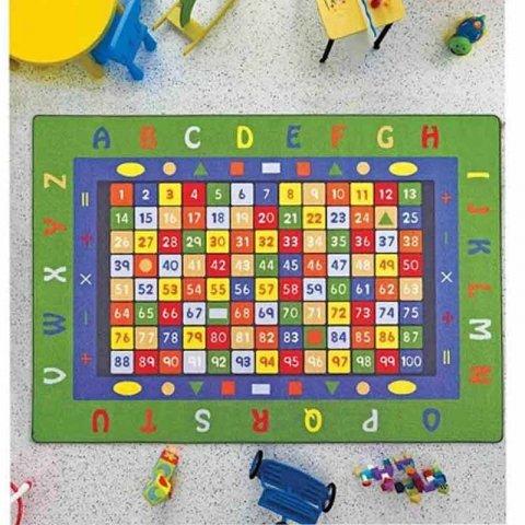 فرش اتاق کودک Confetti طرح آموزشی ریاضی کد MHL176