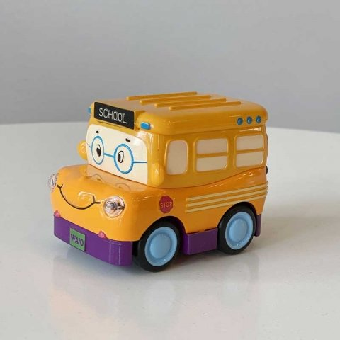 اسباب بازی ماشین فلزی عقب کش مدل اتوبوس مدرسه کد YD626
