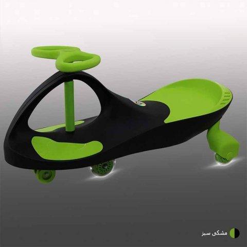 سه چرخه لوپ کار چرخ ژله ای چراغدار مشکی سبز کد PCH1830