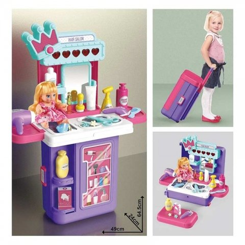 وسایل آرایشگری اسباب بازی چمدانی کد 8257p