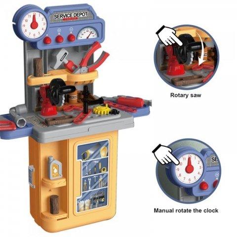 میز ابزار اسباب بازی مدل چمدانی کد 8022p