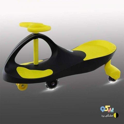 سه چرخه لوپ کار چرخ ژله ای چراغدار مشکی زرد کد PCH1847