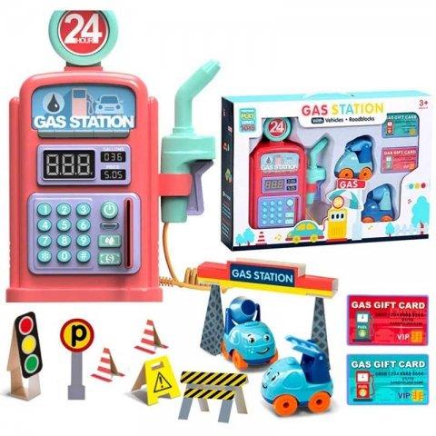 اسباب بازی پمپ بنزین رنگ صورتی کد 8501