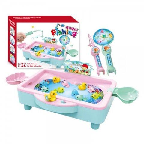 اسباب بازی ماهیگیری با حوضچه صورتی کد 381