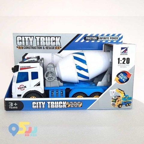 ماشین اسباب بازی میکسر سفید آبی کد 1842