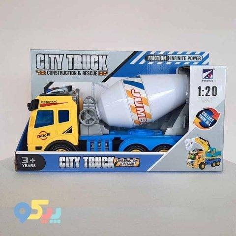 ماشین اسباب بازی میکسر زرد آبی کد 1842