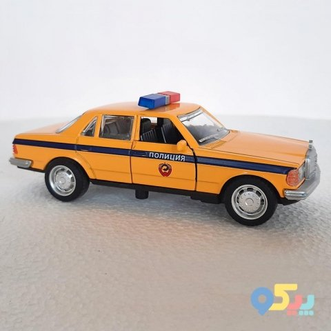 ماشین پلیس اسباب بازی فلزی عقب کش مدل بنز کد 663210M