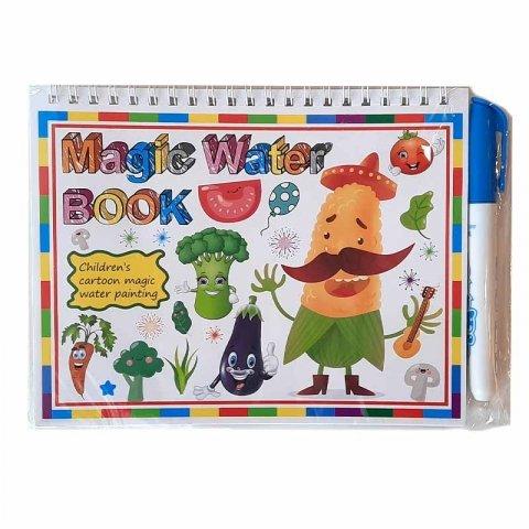 کتاب نقاشی با ماژیک جادویی طرح سبزیجات کد CD829