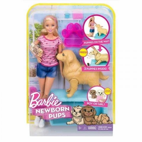 عروسک باربی با سگ کد FDD43