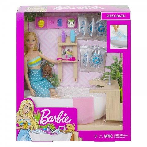 عروسک باربی با وسایل حمام کد GJN32