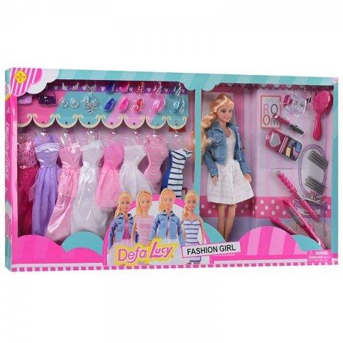 عروسک باربی با لباس اضافه مدل دفا سفید کد 8426