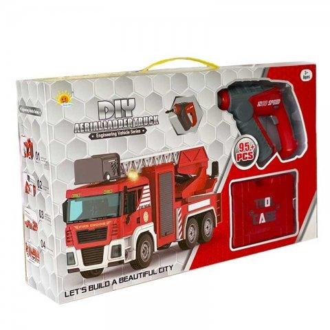 ماشین آتشنشانی اسباب بازی ساختنی با ابزار کد 32028