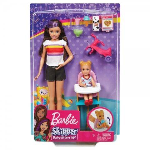 عروسک باربی پرستار بچه barbie skipper babysitter کد GHV87